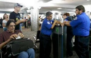 famous people at airport security