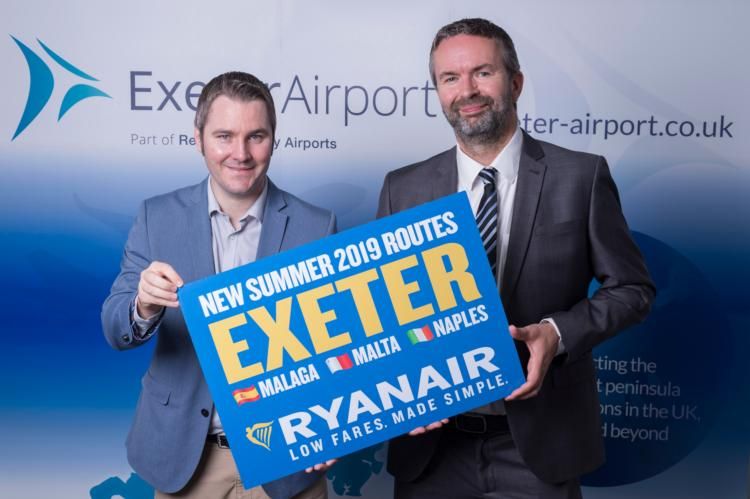 Ryanair to launch new flights to Malaga from Exeter