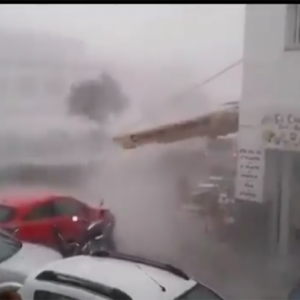 freak storm floods Nerja