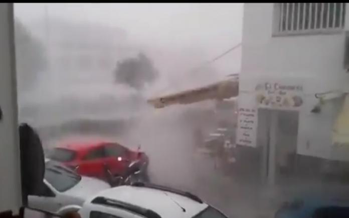 freak storm floods Nerja