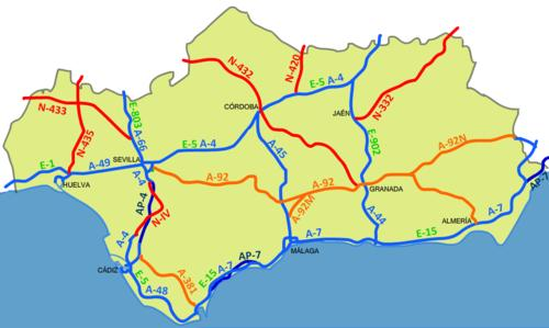Map Of Spain Showing Malaga.A Map Of Andalucia Spain And A Central Malaga Map Hola Hub Malaga