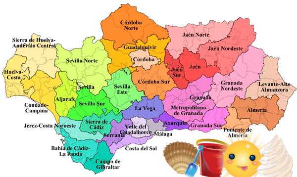 spain andalusia map