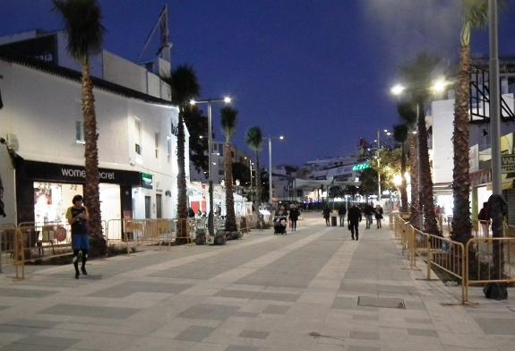 Torremolinos town centre pedestrian zone almost finished
